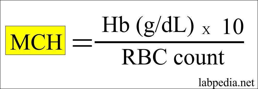 MCH calculation formula