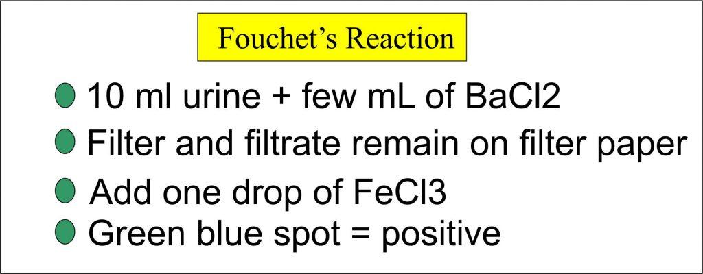 Fouchet's reaction procedure