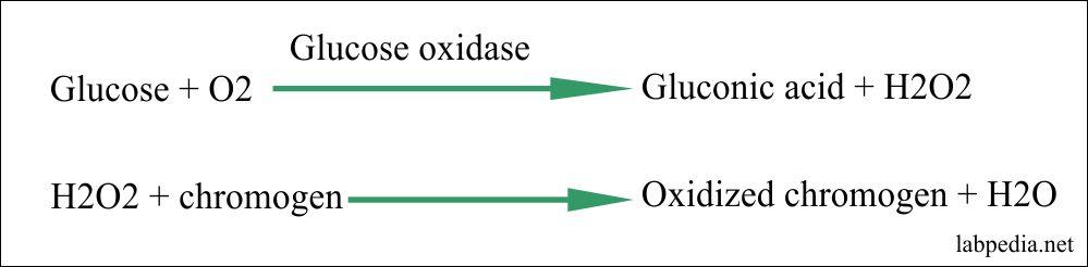 Principle of Glucose oxidase method