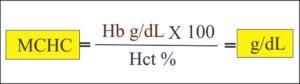 MCHC calculation formula
