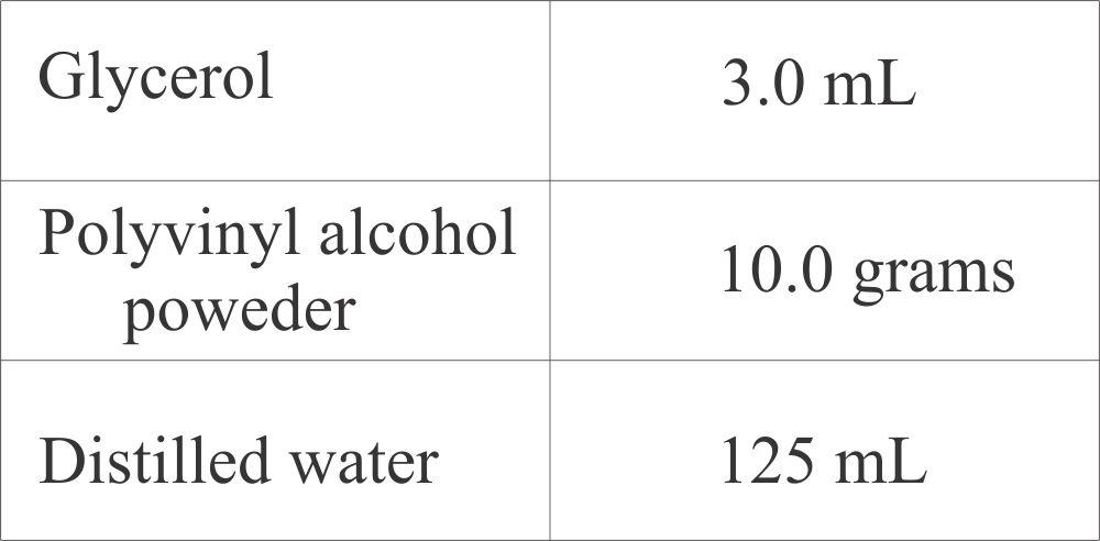 Stool polyvinyl alcohol formula